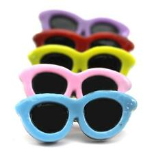 Lovely Sunglasses Shape Pet Dog Hair Clips with Small Glasses and Spring Clip