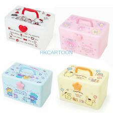 JAPAN SANRIO KITTY MELDOY POM POM PURIN COSMETIC HANDLE BOX STORAGE CASE