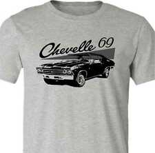 Muscle Car T-shirt-1969 Chevelle t-shirt-Classic Muscle Car shirt-Grey- unisex