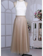 Women Ladies Floral Tank Top Maxi Skirt Bridesmaid Dress Evening Party Prom Gown