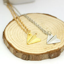 Fashion One Direction 1D Harry Styles Paper Airplane Silver GoldCharms Necklace