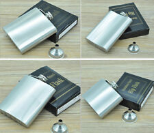 New 8oz Stainless Steel Liquor Alcohol Whiskey Flask With Matching Funnel