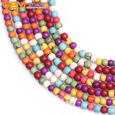 "Dyed Howlite Mixed Color Gemstone Beads For Jewelry Making Strand 15"" Wholesale"
