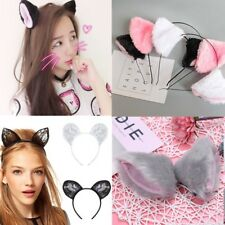 Lovely Fur Cat Ears Fox Cosplay Costume Party Fancy Girls Hairband Headband Gift