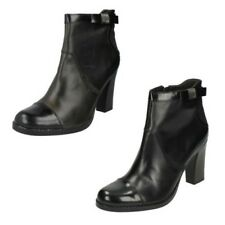 Ladies G-Star Raw Classic High Heel Ankle Boots Black Leather Style - Steeper