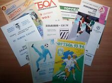 UEFA Cup 1992 - 2000 MATCH PROGRAMMES UPDATED NOVEMBER 2017