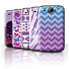 STUFF4 Back Case/Cover/Skin for HTC Wildfire/G8/Purple Fashion