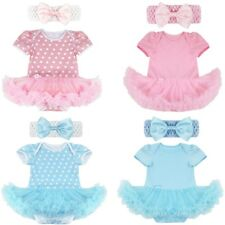 2PCS Baby Girls Polka Dots Clothes Newborn Romper Tutu Dress Headband Outfits