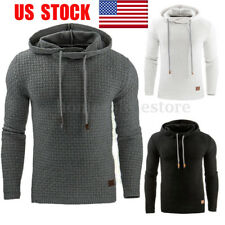 US Mens Hooded Casual Hoodies Pullover Sweatshirt Jumper Sweater Coat Sport Tops