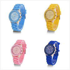 Classic Gift Colorful Silicone Strap Jelly Unisex Womens Wrist Watch