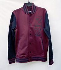 NWT Zoo York Burgundy Black Logo Varsity Men's Jacket Sz S M, L
