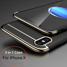 For iPhone X/10 Case 3 in 1 l Shockproof Plating Hybrid Ultra Thin Slim PC Cover