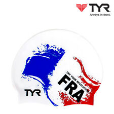TYR France Nation Flags Swim Cap Adult Unisex Silicone Swimming Hat