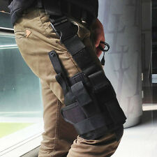 Adjustable Tactical Pistol/Gun Drop Leg Thigh Holster w/ Spare Pouch Right Hand