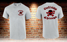 Outlaws Chicago Outlaws Gangs Motor Club Grey T-shirt Men's Tshirt S to 3XL