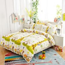 Cute giraffe and animal patterns 4PC bed set queen size cotton
