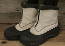 SOREL CRESTWYND WOMENS ZIP UP WHITE INSULATED SNOW/WINTER ANKLE BOOTS SZ 8