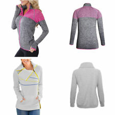 Women Athletic Yoga Track Running Workout Zip Up Long Sleeve Sports Jacket Tops
