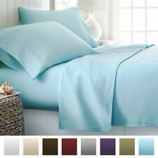 Light Blue Solid One Fitted Sheet & Two Pillow Case 1000 TC 100% Cotton AU Size