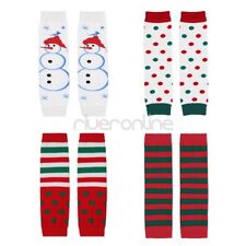 Newborn Infant Baby Boys Girls Christmas Cotton Leg Warmers Xmas Legging Socks