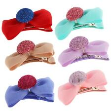 5Pcs Girl Favor Hair Clip Bows with Cap Alligator Barrettes Fashion Jewelry