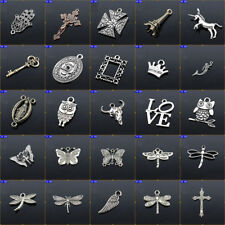 5PCS Tibetan Silver Charms Pendants Fit Bracelet Findings Jewelry Decor 2018