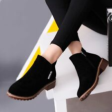 Women Ankle Boots Short Martin Boots Chunky Heels Boots Female Fashion Shoes A2