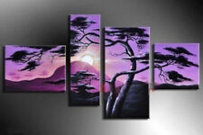 4 pc huge Modern Abstract hand-paint Art Oil Painting Wall Decor canvas NO frame