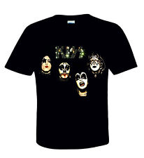 KISS Official T-Shirt 1974 - Heavy Metal Paul Gene Ace Peter Rock n Roll 4 Faces