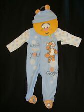 "DISNEY  POOH ""BABY TIGGER"" 2PC set NWT ROMPER &  HAT ""WHAT MAKES YOU GIGGLE??"""