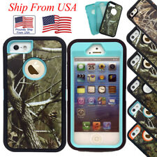 Case Skin For Apple iPhone 5 5S SE Defender Military Protective Hybrid Camo Tree