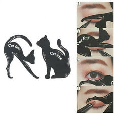 2X/Set Cat Line Eye Makeup Tool Eyeliner Stencils Template Shaper Model Pop BN