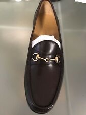 NEW WITH BOX COLE HAAN ASCOT II DARK BROWN LOAFER W/ GOLD BIT  M