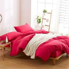 Simple Warm Pure Red Colour 4PC Bed Set Queen/King/Single Size