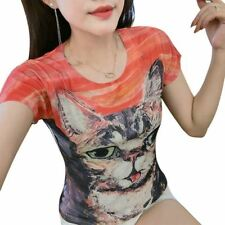 New Fashion Printing Summer Style Cotton O Neck Short Sleeved Women T-shirt