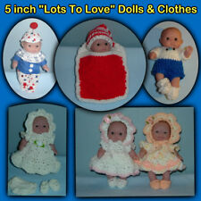 """""""Lots to Love"""" BERENGUER 5"""" Baby Dolls & Clothes Handmade by the Crafty Grandmas"""