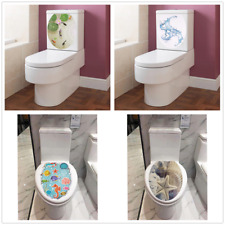 Creative Art Removable Bathroom Toilet Seat Cover wall Sticker Home Decoration