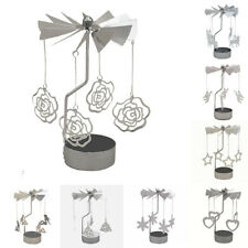 Home Rotating Spinning Carrousel Tea Light Candle Holder Center Decor Ornament