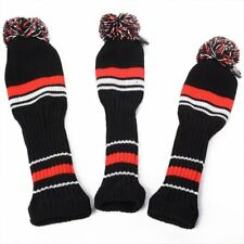 3Pcs Golf Club Knitted Headcover Head Covers For Titleist Taylormade New