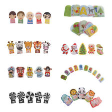 Baby Toy Finger Puppet Plush Doll Educational Pretend Role Play Game Flashcard