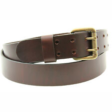 Made in America 1 1/2 Chestnut Oiled Latigo Leather Belt With Double Hole