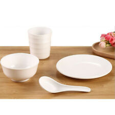 4 Piece Dinnerware Set Service Dishes Bowls Salad Dinner Plates Cup Kit