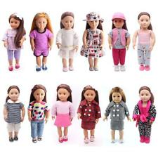 """Dolls Clothes Jeans Jacket Dress Shirt Uniform Shoes for 18"""" American Girl Doll"""