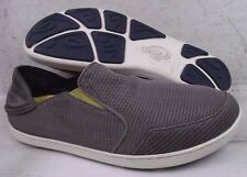 Olukai Mens Nohea Rock Gray Fabric Loafers Shoes 10188-RK12 size 11.5 M