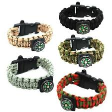 Multi-Function Emergency Survival Bracelet  Cord Wristband Compass Paracord