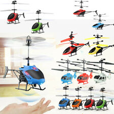 Flying Mini RC Infraed Induction Helicopter Aircraft Flashing Light Drone Gifts