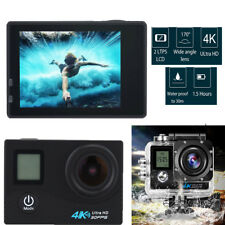 Dual Screen 4K WiFi 16MP Action Sports Camera Wide Angle Lens DV Dash Camcorder
