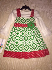 Little Girls Dress Christmas Holiday Two Piece Set Adorable! Size 2T 5 $50 NWT