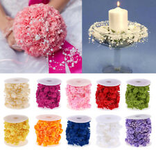 32ft Rose Flower Acrylic Pearls String Garland Wedding Cake Bouquets Table Decor