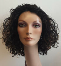 BCG-2072 Gloria Human Hair Wig full, curly color: FS1B/30 Black w Red